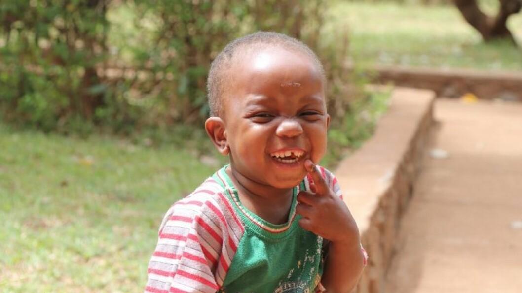 Gutt i barnebyen i Bindura.