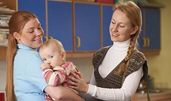 Barnehagen tar en mindre del av foreldrenes lommebok