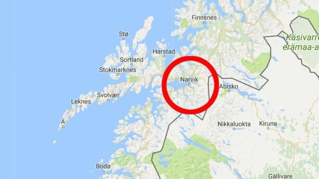 Narvik ligger i Nordland.