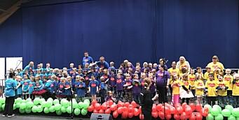 Barnehagebarn samlet inn 15.000 kroner til gode formål