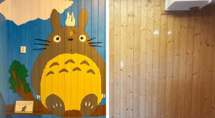 Se veggene Mathias malte for å gi barnehagen ny energi
