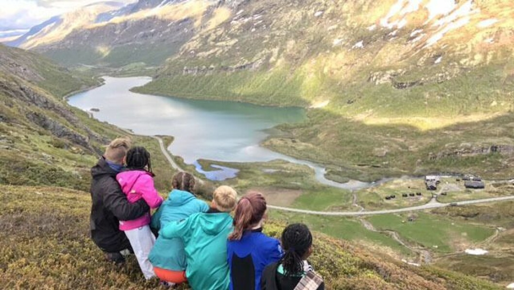 Læringsverkstedets sommercamp på Bøverton som ligger vakkert plassert ved foten av Jotunheimen på Sognefjellet.
