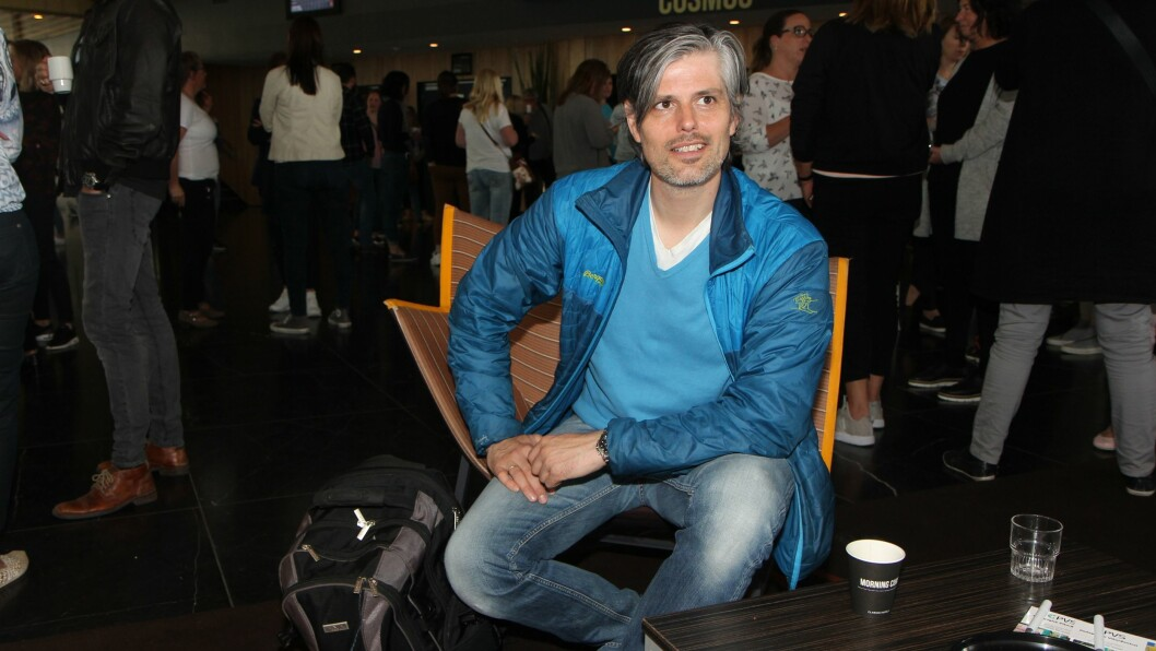Håvard Tjora var en av foredragsholderne på konferansen «Har du bare lekt i dag?» i regi av Dronning Mauds Minne Høgskole for barnehagelærerutdanning i Trondheim.