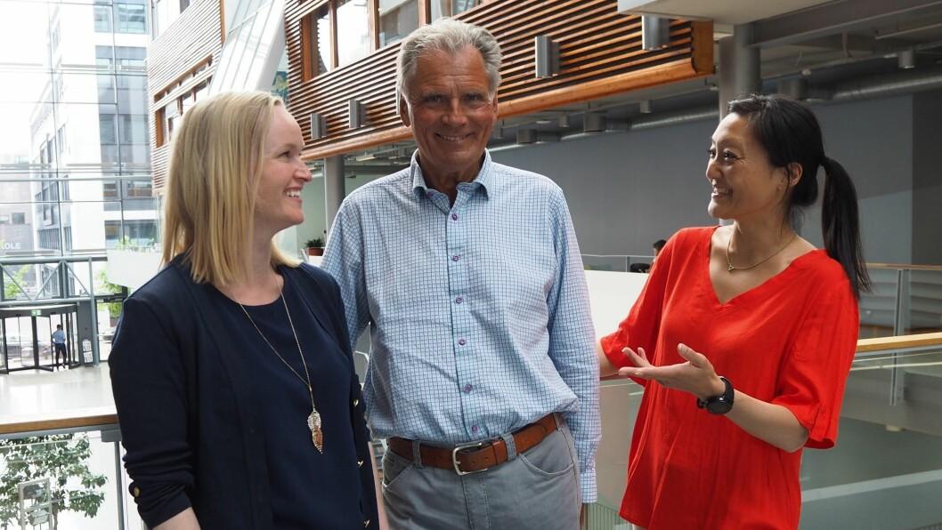 Daglig leder for Norges Yrkesakademi, Kjell Rosland sammen med markedssjef Anne-Christine Nordstrøm (t.v) og strategi- og markedsdirektør Marit Aamold Sundby.
