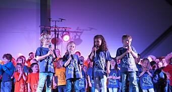 Stinn brakke da 130 barnehagebarn inviterte til barnemusikal