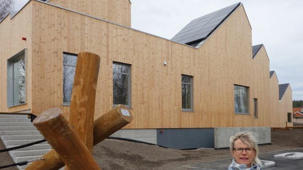 Virksomhetsleder Merete Bjertnes gleder seg til å ta barnehagen i bruk.