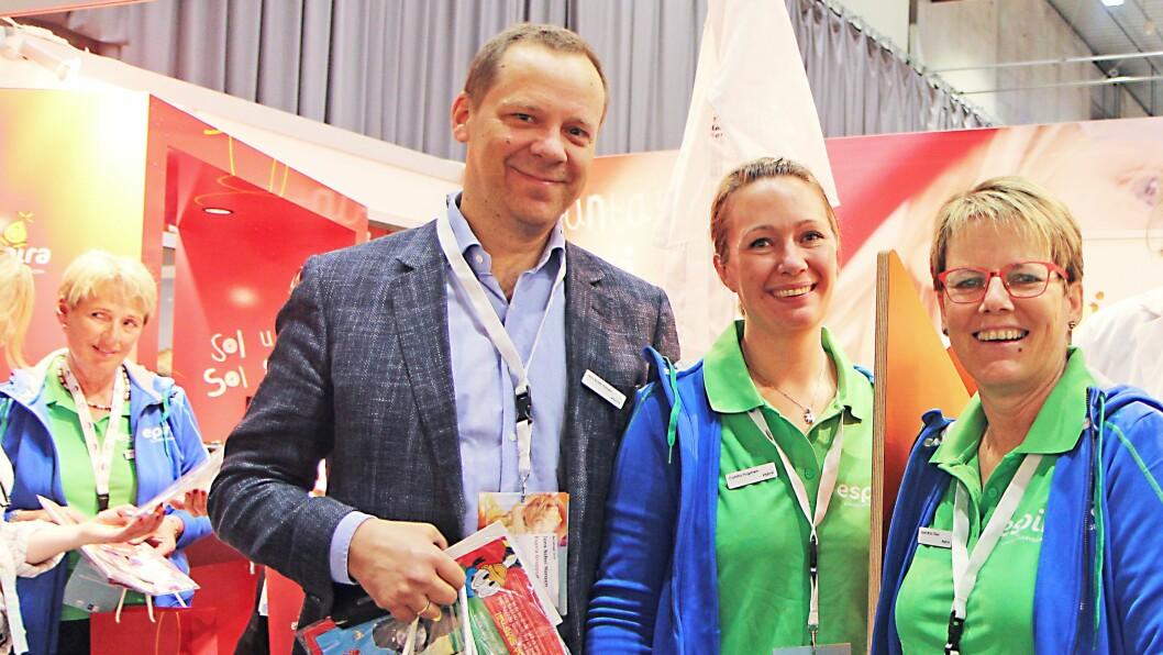 Kommunikasjons- og organisasjonsdirektør i Espira, Jens Schei Hansen på Barnehage 2016 sammen med representanter fra Espira.