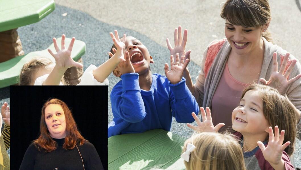 Pia K. Halvorsen er daglig leder i Den blå appelsin Kanvas-barnehage.