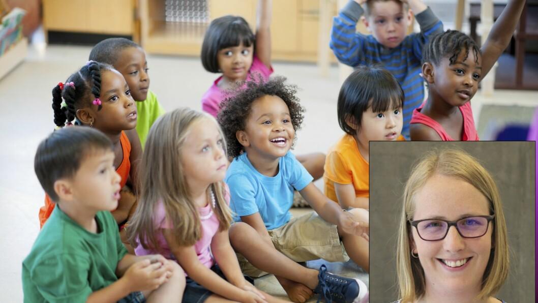 Høgskolelektor Anne Grethe Sønsthagen ved Høgskulen på Vestlandet peker på utfordringer som barnehageansatte møter når en større andel av barna har minoritetsspråklig bakgrunn.