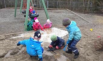 Feiret Barnehagedagen med vannlek