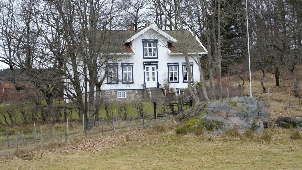 Det er denne villaen som Knut N. Tønnevold Ugland vil bygge om til barnehage.