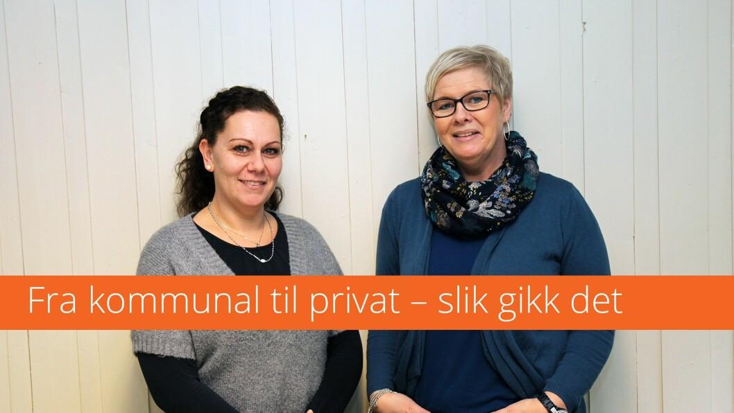 Fra venstre: Barne- og ungdomsarbeider Dijana Kristiansen og daglig leder Kristin Alfredsen.