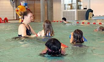 Lærer å bli trygge i vann