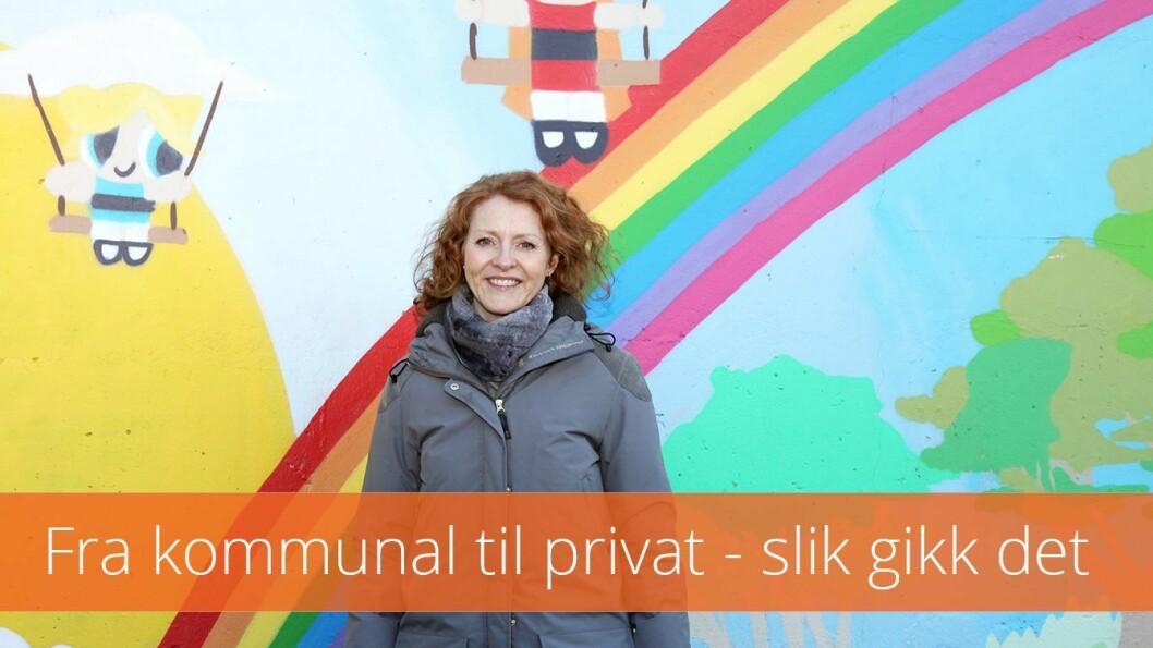 Daglig leder i Rønningen Kanvas barnehage i Oslo, Kari-Anne Bergså Skarpaas, stortrives i Kanvas.