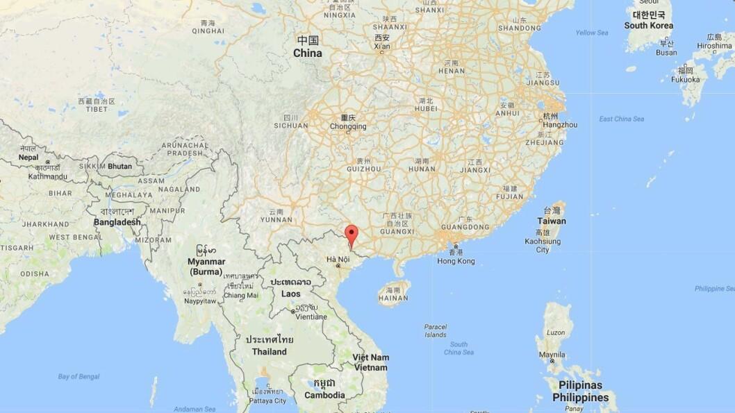Pingxiang i Chongzuo, Guangxi, Kina.