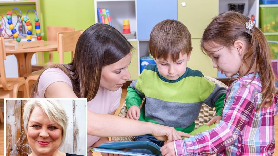 – Gjennom at personalet arbeider mye med litteratur, gjør bøkene tilgjengelige for barna, har et bredt utvalg av litteratur og viser hvordan man behandler bøker med respekt, så endres også barnas måte å håndtere bøkene på, de skjønner at det ikke er leker, sier Trine Solstad.