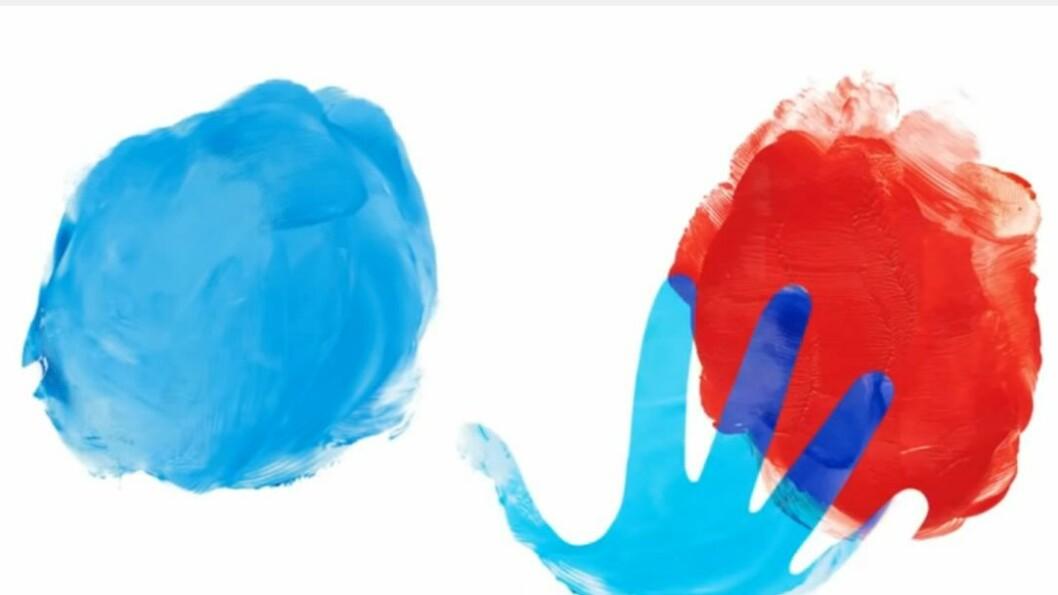 """I den interaktive boken """"Farger"""" av Herve Tullet, kommer man så nær det å male selv som det går an - uten pensler og maling."""