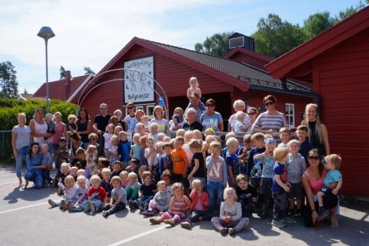 """Smedhusåsen barnehage i Rygge var en av åtte finalister i konkurransen om å bli """"Årets barnehage 2016""""."""