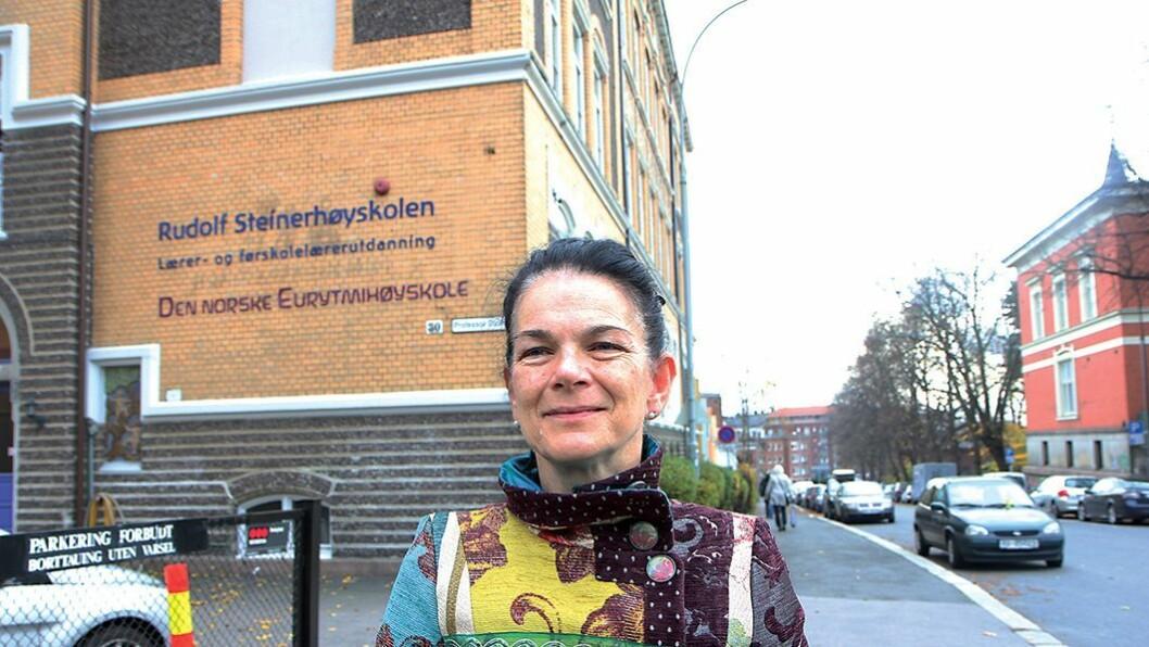 – Urimelig: Administrerende leder ved Rudolf Steinerhøyskolen, Dagny Ringheim så ikke logikken i at deres pedagoger ikke fikk bidra til å fylle pedagoghullet i norske barnehager.