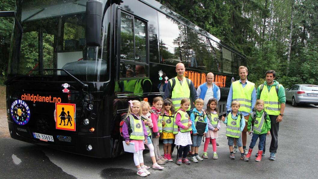 Nærhet til naturen. Med egen barnehagebuss er ungene i Månestråle barnehage aldri langt unna naturen selv om de holder til i lokaler midt på Majorstuen i Oslo.