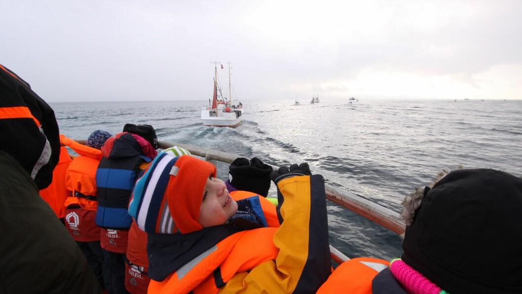 De yngste deltakerne i verdensmesterskapet i skreifiske er ikke interessert i fisk. De vil ha hai, hval og blekksprut.
