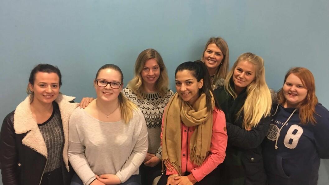 Silje Marie Bohmann, Tanya Marie Løvlie Asbjørnsen, Katarina Meyer, Meryem Ebru Taymur, Heidi Utne, Gentiana Bicaj og Maria Andersen er barnehagelærerstudenter ved Høgskolen i Østfold.