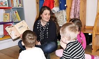 Åpnet sitt eget «mikrobibliotek» i barnehagen