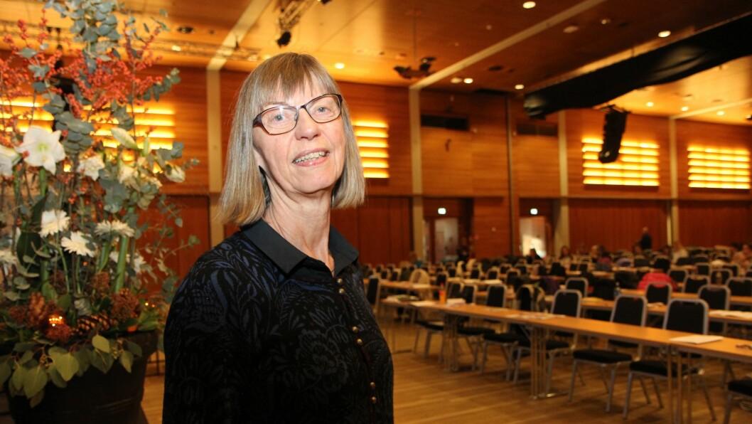 Anne Høigård, førstelektor i norsk ved barnehagelærerutdanningen ved Universitet i Stavanger på Barnehageforums konferanse «Det magiske språket».
