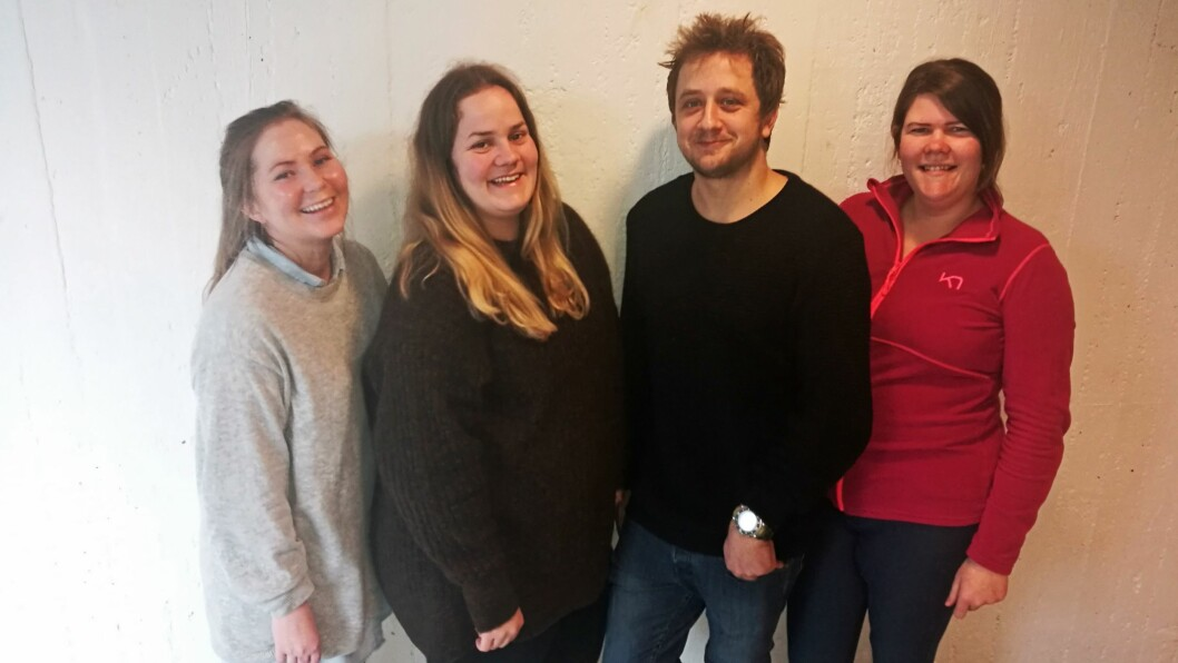 Barnehagelærerstudenter fra Høgskolen i Østfold med sterke meninger: S. Jeanette N. Diallo, Mali Johansen, Eivind Mebust og Karoline Bråthen-Olsen.