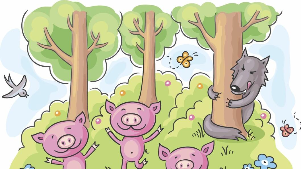 – La eventyrkarakterene bli levendegjort ved å utnytte situasjonen dere er i. Dersom barnet i utetiden finner et blad og du holder det opp i vinden, kan du fortelle om ulven fra De tre små griser, han som blåser ned huset til den ene av grisene, råder Cecilie Fodstad og Silje Neraas.