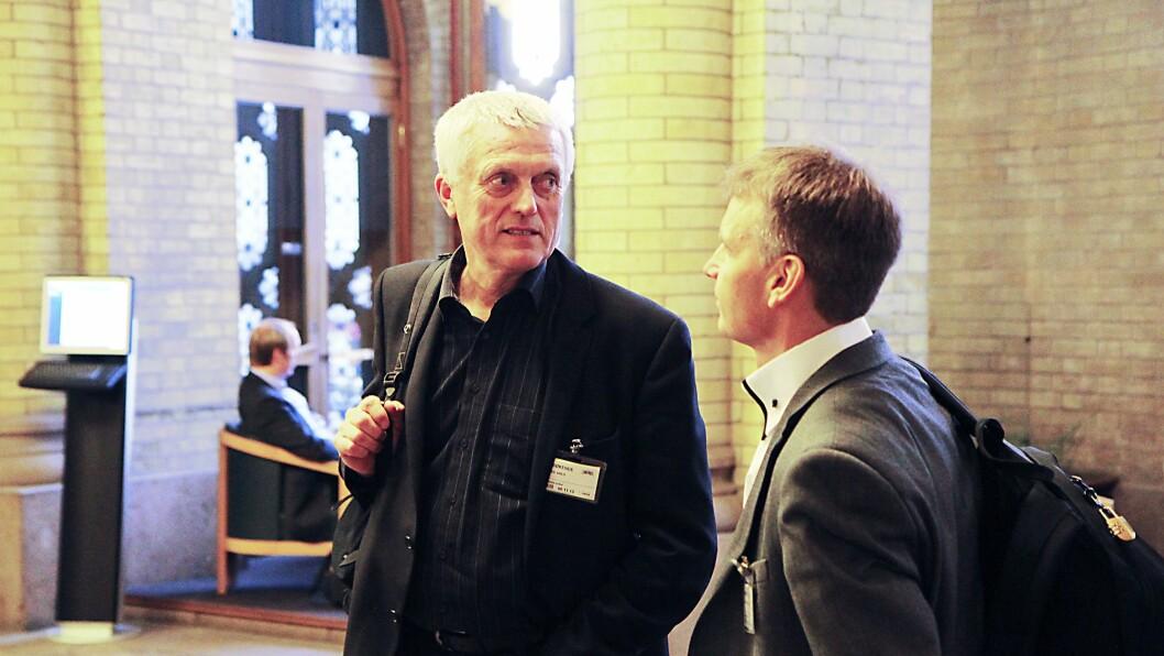Administrerende direktør i PBL, Arild Olsen (t.v). Her med viseadministrerende direktør i PBL, Jørn-Tommy Schjeldrup.
