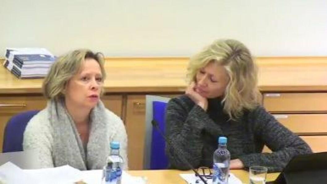 Seniorrådgivere i FUB, Åse-Berit Hoffart og Lou C. Norreen i FUB på lanseringen av rapporten