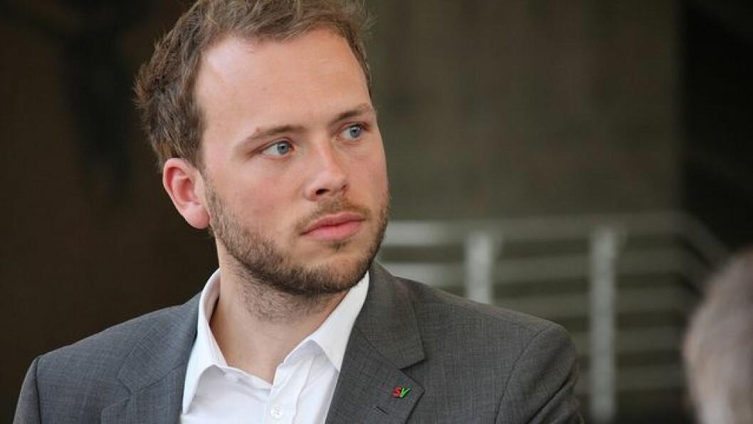 SV-leder Audun Lysbakken ønsker å forby utbytte på privat barnehagedrift.
