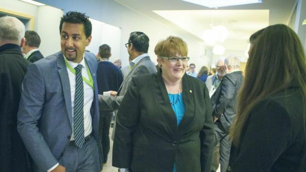 Abid Q. Raja og Trine Skei Grande (V).