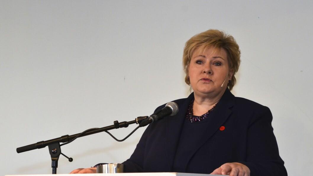 Statsminister Erna Solberg (H).