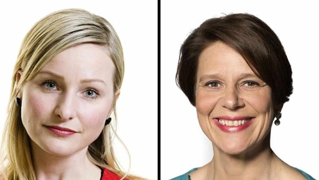 Inga Marte Thorkildsen (SV) og Tone Tellevik Dahl (Ap) bytter jobb.