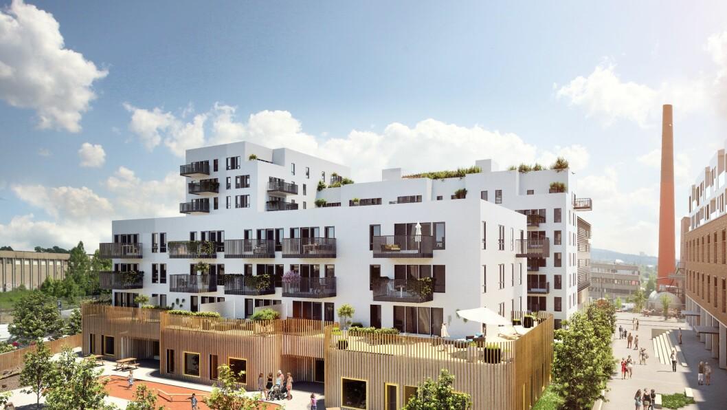 Da utbygger AF Gruppen planla utbyggingen av boligfeltet Krydderhagen, stilte Oslo kommune krav om barnehagebygging.