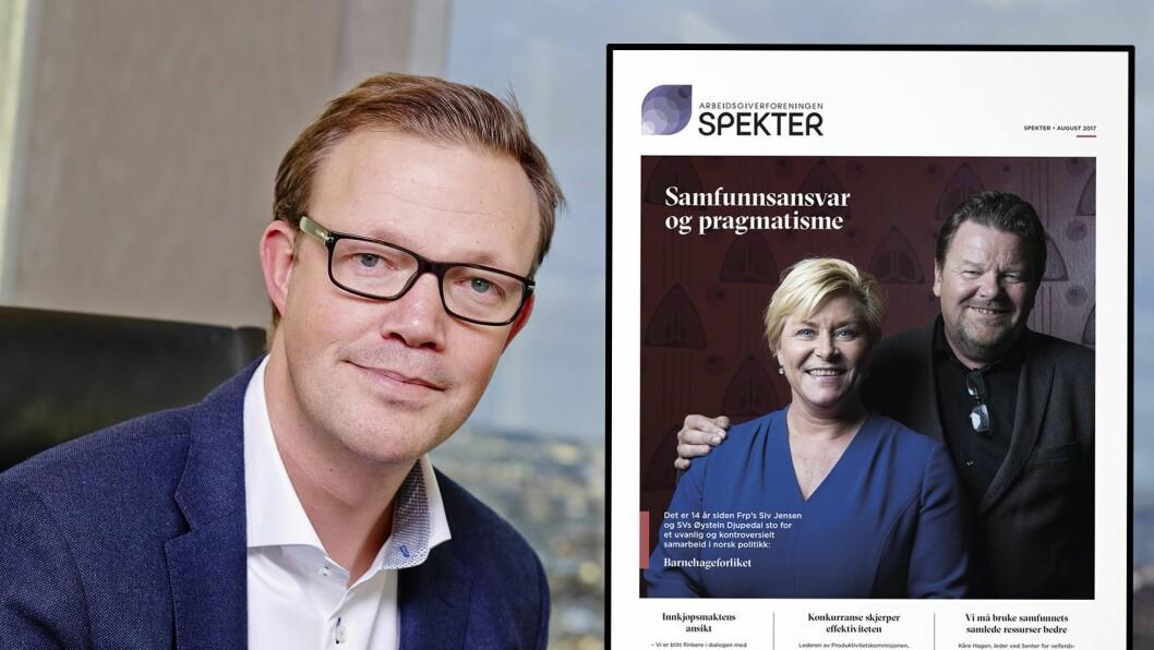 Direktør for kommunikasjon og samfunnspolitikk i Spekter, Gunnar Larsen, sier at hensikten med magasinet