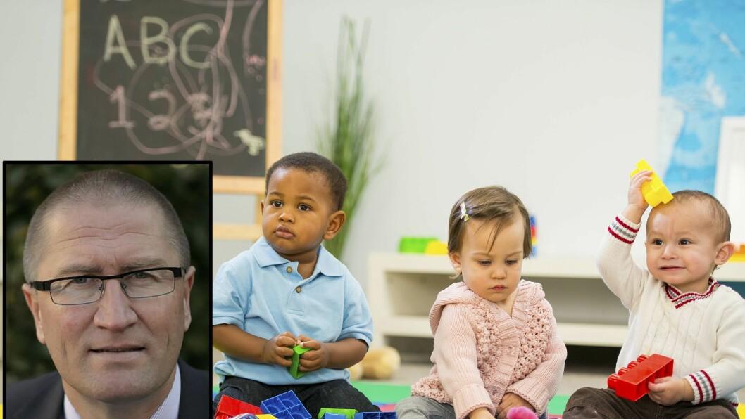 KrFs Geir Jørgen Bekkevold varsler en enda hardere satsing på kvalitet i barnehagene. Samtidig vil han åpne for at flere skal kunne kombinere barnehage med kontantstøtte.