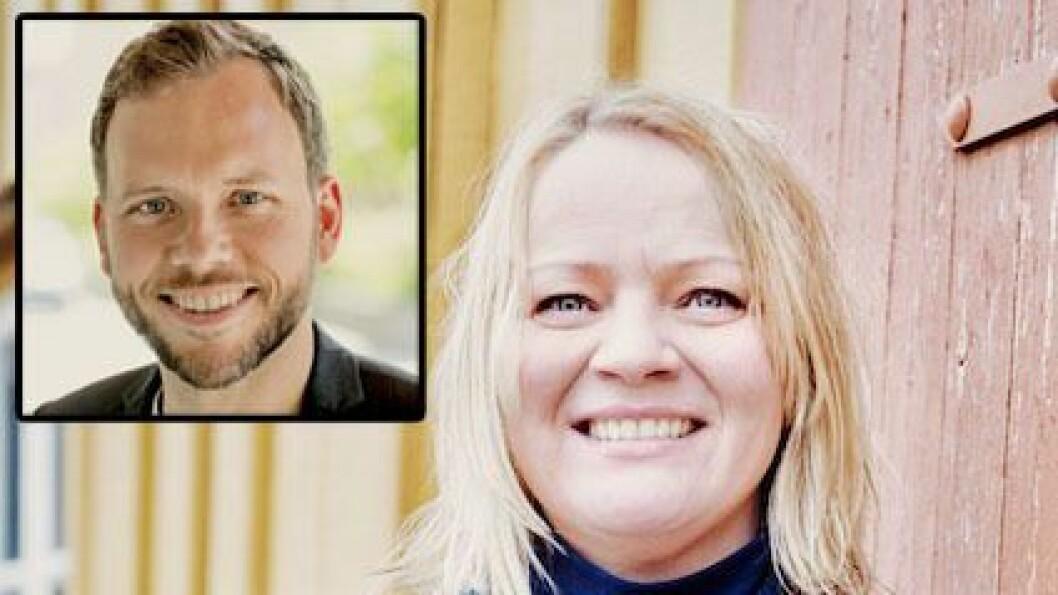 Mona Fagerås, Nordland SVs 1. kandidat og Audun Lysbakken, leder i SV.