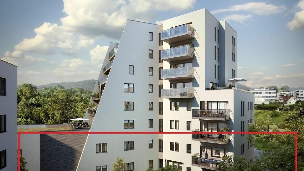 Det er i disse lokalene at Espira og Selvaag Bolig ASA vil bygge barnehage. Byrådet i Oslo har avslått søknaden om tilskudd. Likevel vil ikke byrådet annullere kravet om at barnehagen skal bygges.