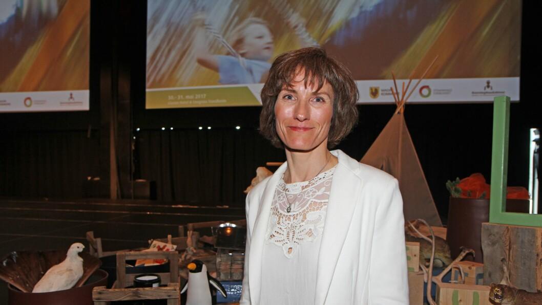 Professor i pedagogikk ved Høgskolen i Innlandet, Solveig Østrem, var en av foredragsholderne på barnehagekonferansen «Har du bare lekt i dag?» i regi av Dronning Mauds Minne Høgskole for barnehagelærerutdanning i Trondheim.