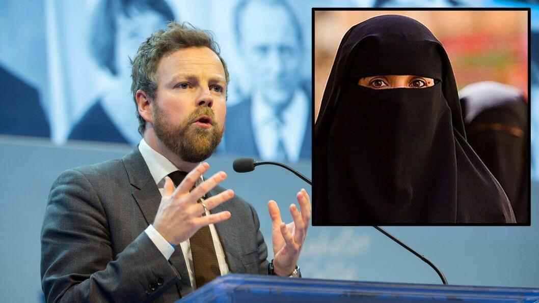 Kunnskapsminister Torbjørn Røe Isaksen (H) vil innføre et nasjonalt forbud mot bruk av ansiktsdekkende hodeplagg i barnehager, skoler og universiteter.
