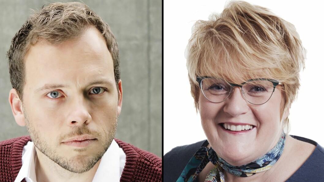 SV-leder Audun Lysbakken og Venstre-leder Trine Skei Grande tolker Agenda Kaupangs rapport om barnehagedrift svært forskjellig.