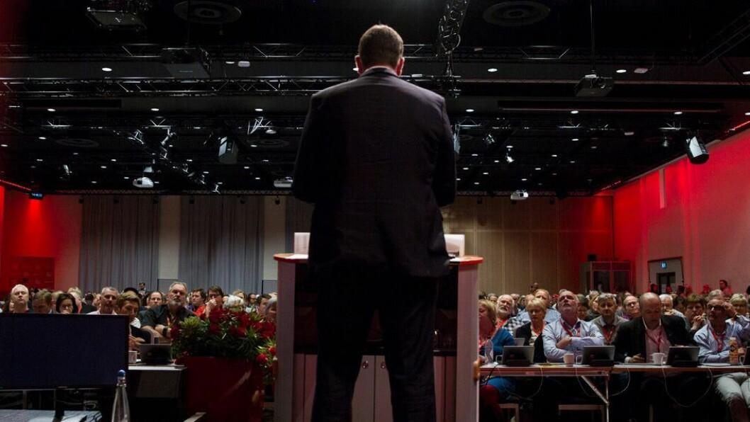 Bildet er tatt under LO-kongressen i forrige uke.