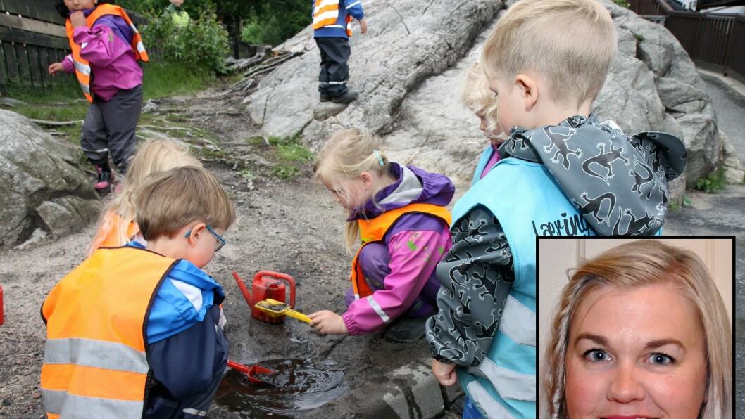 Grete Harstad er pedagogisk leder i Læringsverkstedet DoReMi Gystadmarka. Illustrasjonsbildet er tatt i en annen barnehage.