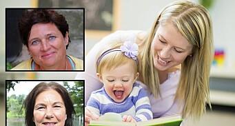Avviser at ettåringer tar skade av å være i barnehage