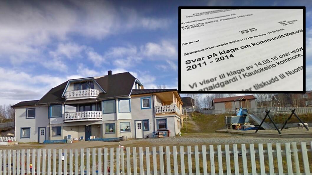 Nuortamielli barnehage ligger i Kautokeino. Nå har Fylkesmannen konkludert med at kommunen har betalt for lite i tilskudd i perioden 2011-2014.