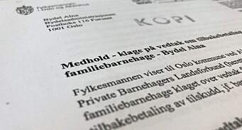 Oslo krevde 275.000 fra familiebarnehage – Fylkesmannen opphever vedtaket