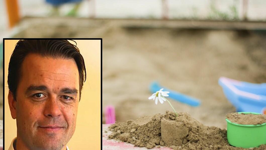 Joacim Holter er far og rammet av streiken i Akasia-barnehagene.